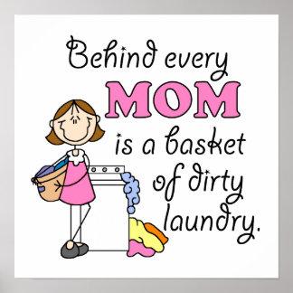 Regalo divertido del día de madres poster