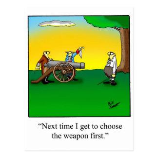 Regalo divertido del dibujo animado de la historia postales