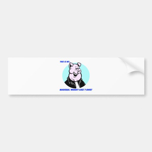 regalo divertido del dibujo animado del cerdo de l etiqueta de parachoque