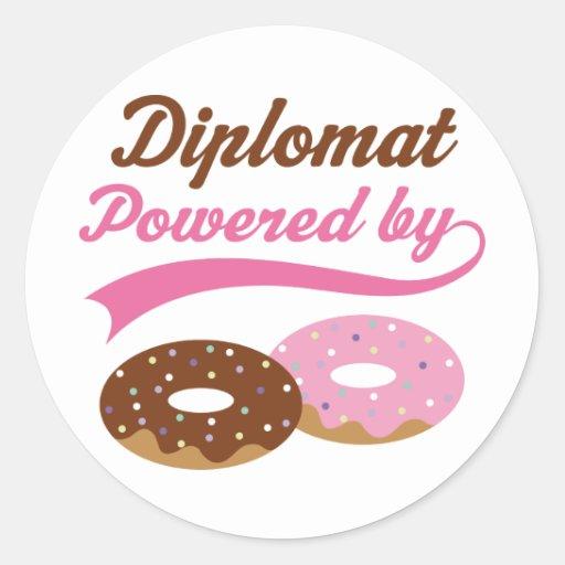 Regalo divertido del diplomático pegatina redonda