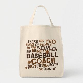 Regalo (divertido) del entrenador de béisbol bolsa tela para la compra