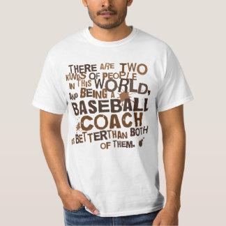 Regalo (divertido) del entrenador de béisbol playera