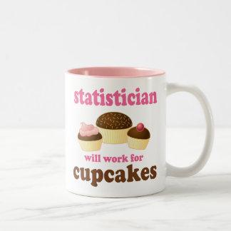 Regalo (divertido) del estadístico taza de café de dos colores