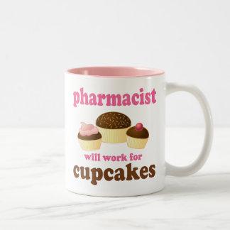 Regalo (divertido) del farmacéutico taza de café de dos colores
