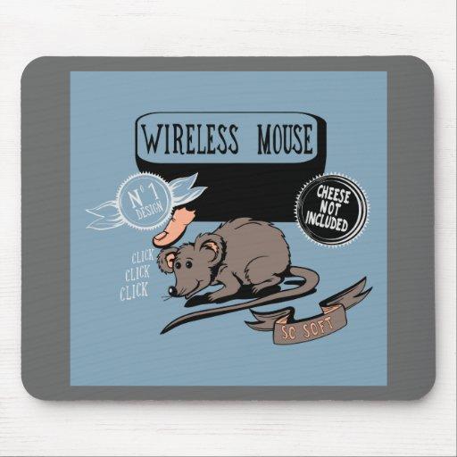 Regalo divertido del friki del ~ inalámbrico del r mouse pads