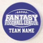 Regalo divertido del fútbol FFL de la fantasía - m Posavasos Personalizados