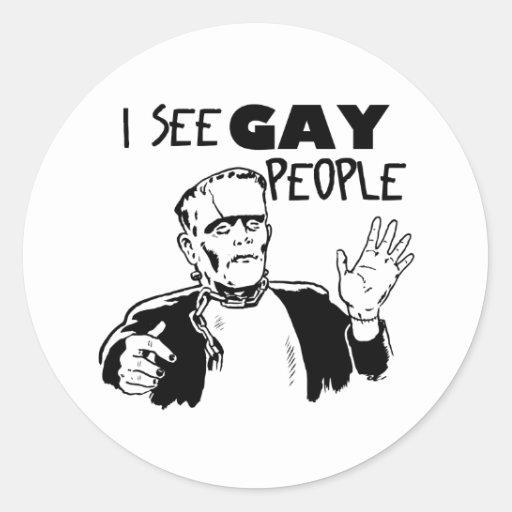 Regalo divertido del gay de Halloween Pegatina