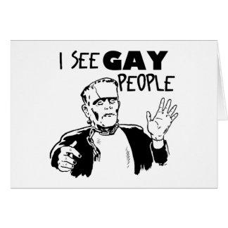 Regalo divertido del gay de Halloween Tarjeta De Felicitación
