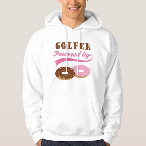 Regalo divertido del golfista sudaderas con capucha