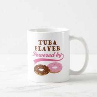 Regalo divertido del jugador de la tuba taza