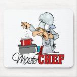 Regalo divertido del maestro cocinero alfombrilla de raton