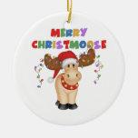 Regalo divertido del navidad del reno ornamente de reyes