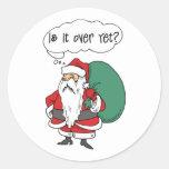 Regalo divertido del navidad etiqueta redonda