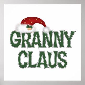 Regalo divertido del navidad para Grandother Póster