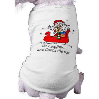 Regalo divertido del navidad camisas de perritos