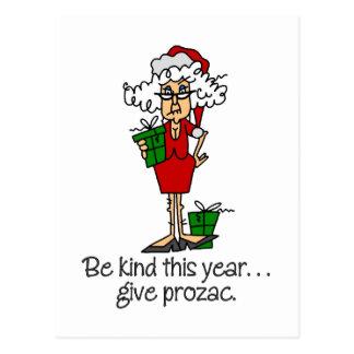 Regalo divertido del navidad tarjeta postal