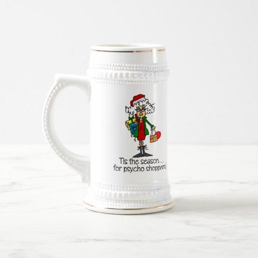 Regalo divertido del navidad taza de café