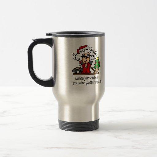 Regalo divertido del navidad tazas de café