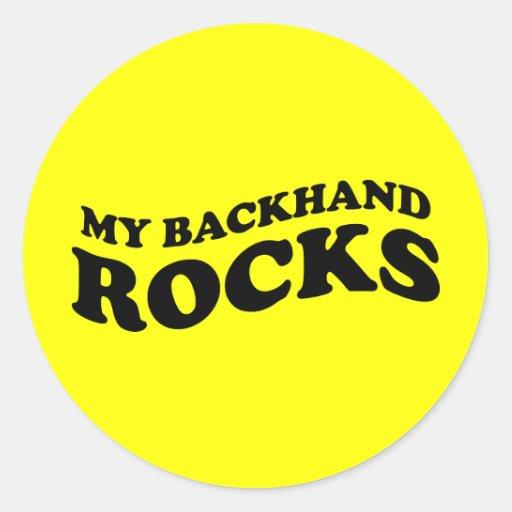 Regalo divertido del pegatina del tenis: Mis rocas