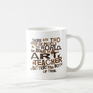 Regalo (divertido) del profesor de arte taza básica blanca