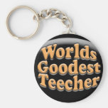Regalo divertido del profesor de Goodest Teecher d Llavero