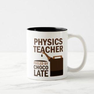 Regalo divertido del profesor de la física taza de café