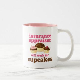 Regalo (divertido) del tasador del seguro taza