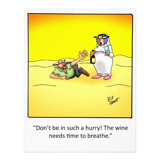 ¡Regalo divertido del vino! Tarjetas Publicitarias