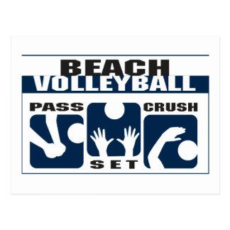 Regalo divertido del voleibol de playa postales