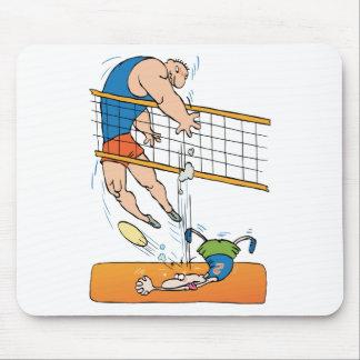 Regalo divertido del voleibol tapete de ratón