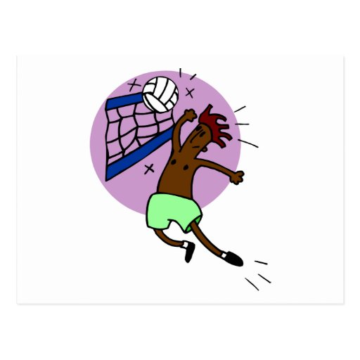 Regalo divertido del voleibol tarjetas postales
