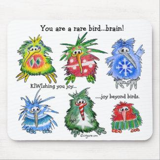 Regalo divertido Mousepad del navidad del kiwi del