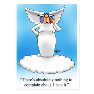 ¡Regalo divino del dibujo animado del ángel del hu Postales