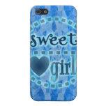 regalo dulce del chica iPhone 5 carcasa