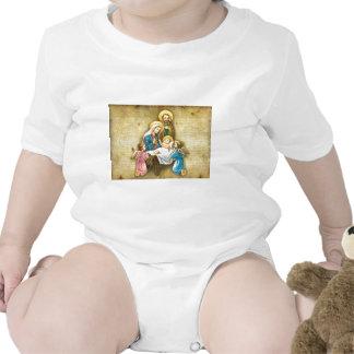 Regalo dulce simple de la imagen de la natividad d camisetas