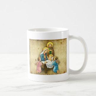 Regalo dulce simple de la imagen de la natividad d tazas