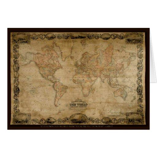 Regalo educativo del mapa artístico hermoso felicitacion