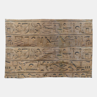 Regalo egipcio antiguo del diseñador de los jerogl toallas de cocina