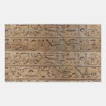 Regalo egipcio antiguo del diseñador de los rectangular pegatina