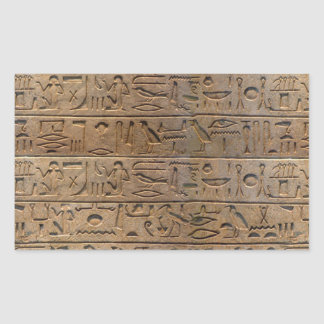 Regalo egipcio antiguo del diseñador de los pegatina rectangular