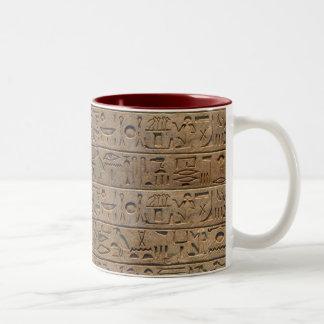 Regalo egipcio antiguo del diseñador de los taza de café de dos colores