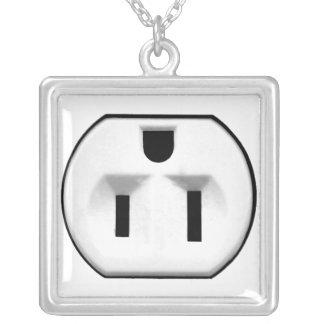 Regalo eléctrico divertido del mercado para los el collar plateado