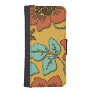 Regalo elegante del estampado de flores de la flor billetera para teléfono