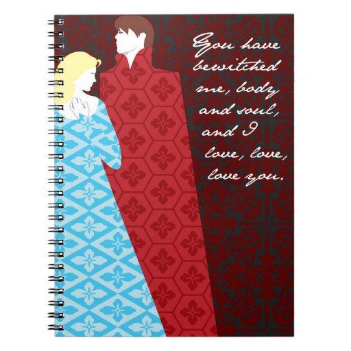 """Regalo """"Elizabeth """" del orgullo y del perjuicio de Spiral Notebooks"""