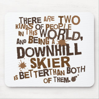 Regalo en declive del esquiador tapetes de ratones