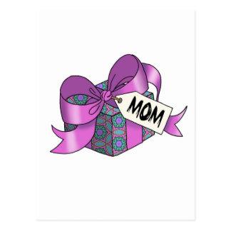 Regalo envuelto cinta para Mom-001 Tarjeta Postal