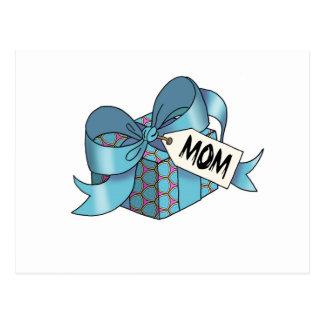 Regalo envuelto cinta para Mom-003 Postal