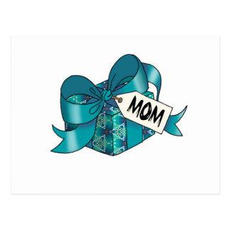 Regalo envuelto cinta para Mom-005 Postal