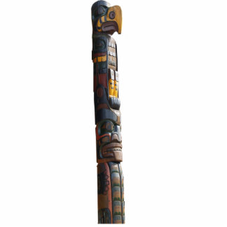 Regalo esculpido tótem del nativo americano del Ha Escultura Fotografica