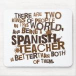 Regalo español del profesor alfombrillas de ratón